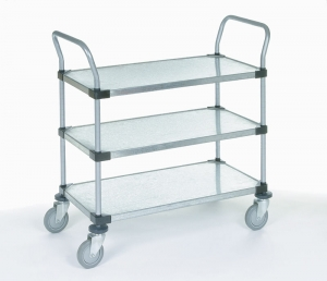 Nexel Solid Shelf Utility Carts 3 Shelf