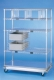 Nexel Exchange & Linen Transport Trucks - Heavy Duty - Four Wire Shelves, One Solid Shelf