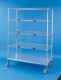 Nexel Exchange & Linen Transport Trucks - Standard Four Wire Shelves, One Solid Shelf