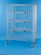 Nexel Exchange & Linen Transport Trucks - Standard Five Wire Shelves, Three Sided Enclosure Panels