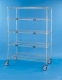 Nexel Exchange & Linen Transport Trucks - Standard Five Wire Shelves