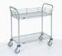 Nexel Utility Cart Wire 2 shelf w/ pneumatic casters
