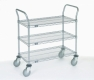 Nexel Utility Cart Wire 3 shelf w/ pneumatic casters
