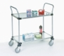 Nexel Solid Shelf Utility Carts 2 Shelf