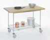 Butcher Block Top Mobile Work Center